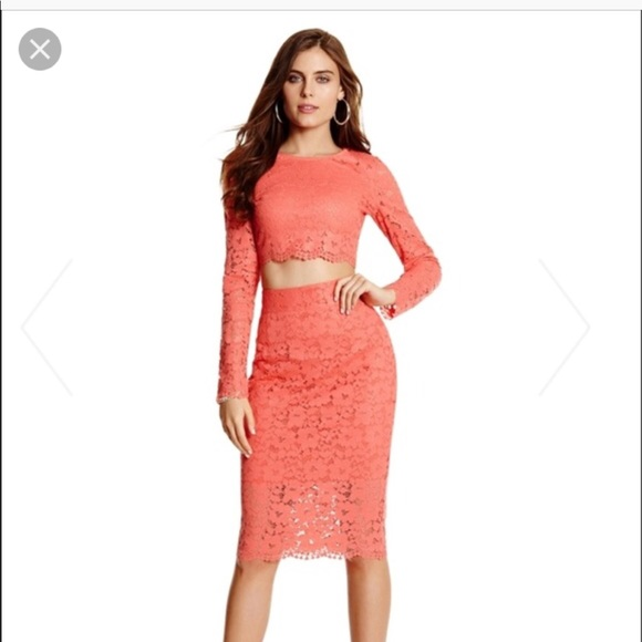 bffc39cbd46 Guess by Marciano Dresses | Nwt Marciano Guess Piya Lace Crop Top ...